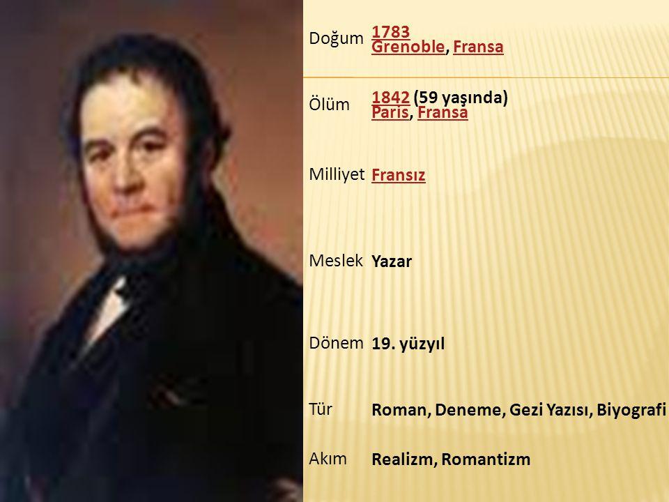 Doğum 1783 Grenoble, Fransa. Ölüm. 1842 (59 yaşında) Paris, Fransa. Milliyet. Fransız. Meslek.