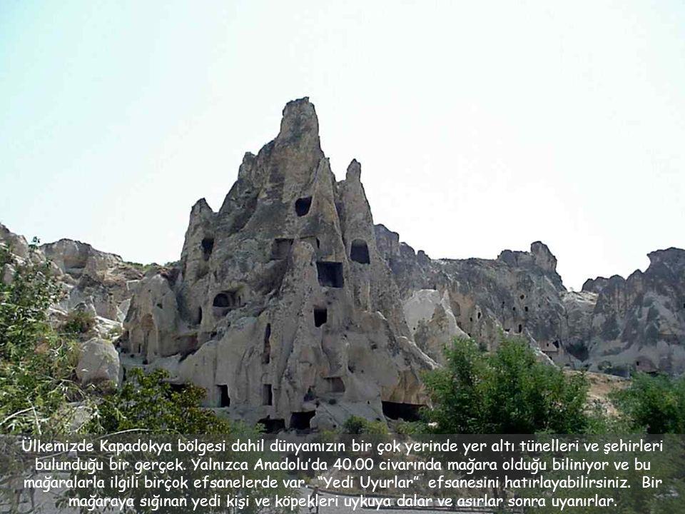 Ülkemizde Kapadokya bölgesi dahil dünyamızın bir çok yerinde yer altı tünelleri ve şehirleri bulunduğu bir gerçek.
