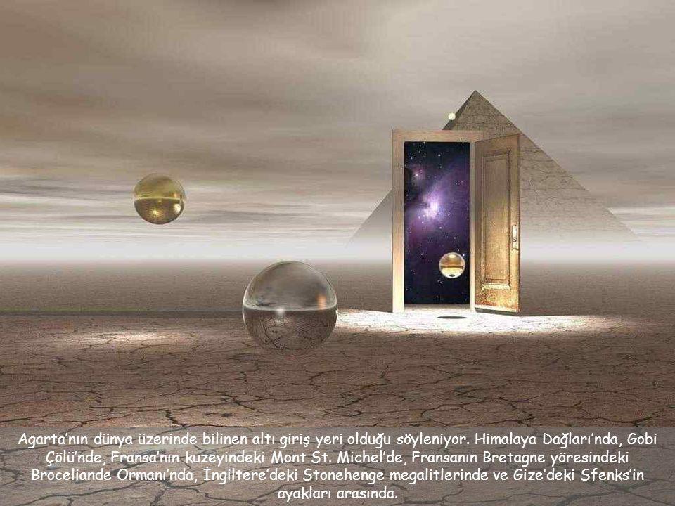 Agarta'nın dünya üzerinde bilinen altı giriş yeri olduğu söyleniyor