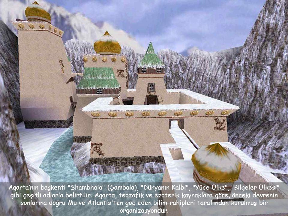 Agarta'nın başkenti Shambhala (Şambala), Dünyanın Kalbi , Yüce Ülke , Bilgeler Ülkesi gibi çeşitli adlarla belirtilir.
