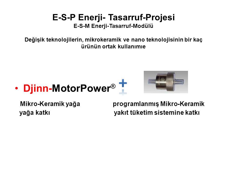E-S-P Enerji- Tasarruf-Projesi E-S-M Enerji-Tasarruf-Modülü