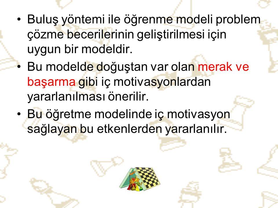 Buluş yöntemi ile öğrenme modeli problem çözme becerilerinin geliştirilmesi için uygun bir modeldir.
