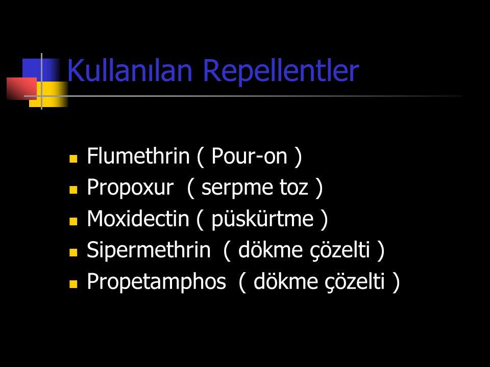 Kullanılan Repellentler