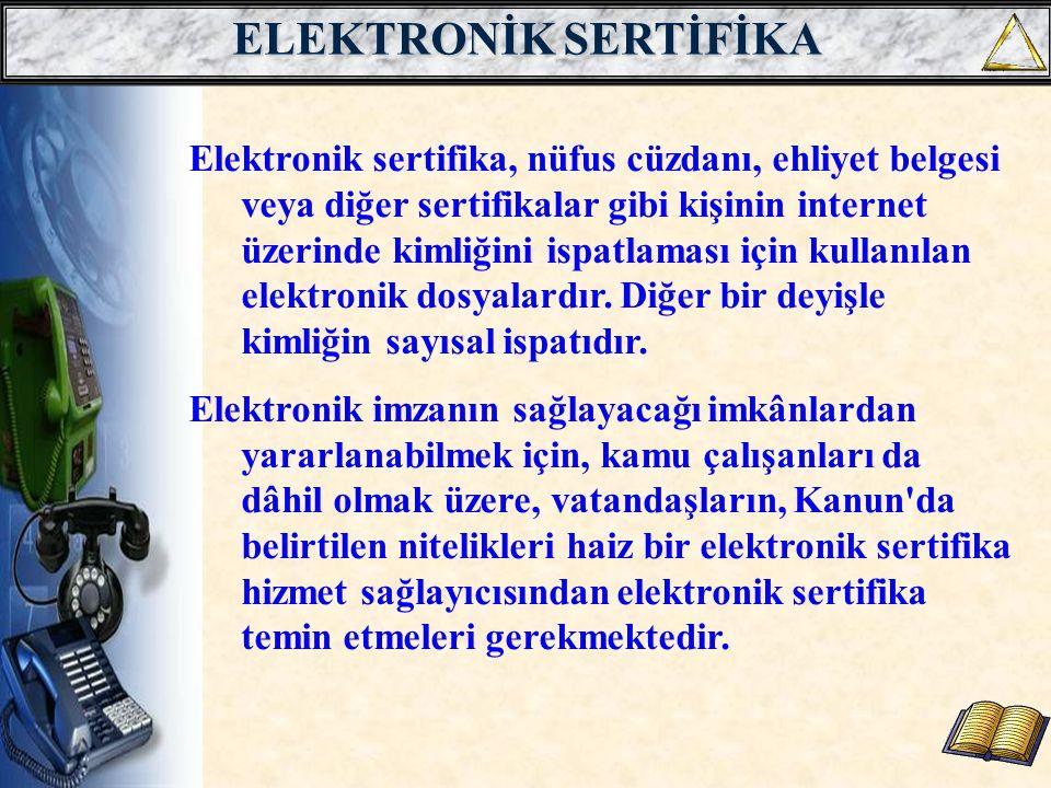 ELEKTRONİK SERTİFİKA
