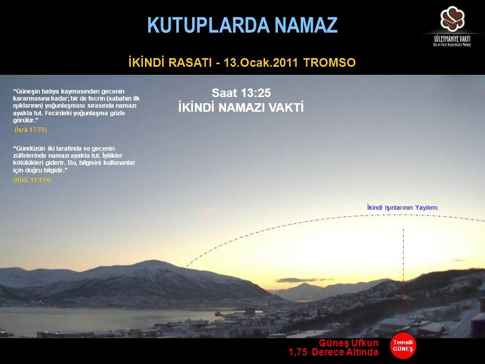 İKİNDİ RASATI - 13.Ocak.2011 TROMSO İkindi Işınlarının Yayılımı