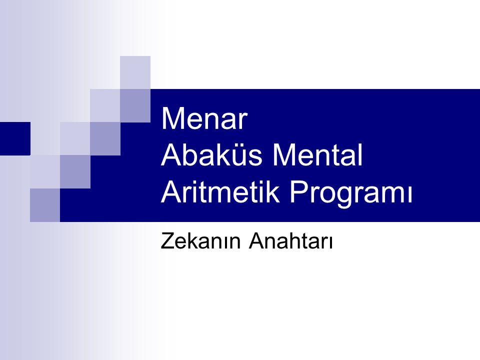 Menar Abaküs Mental Aritmetik Programı