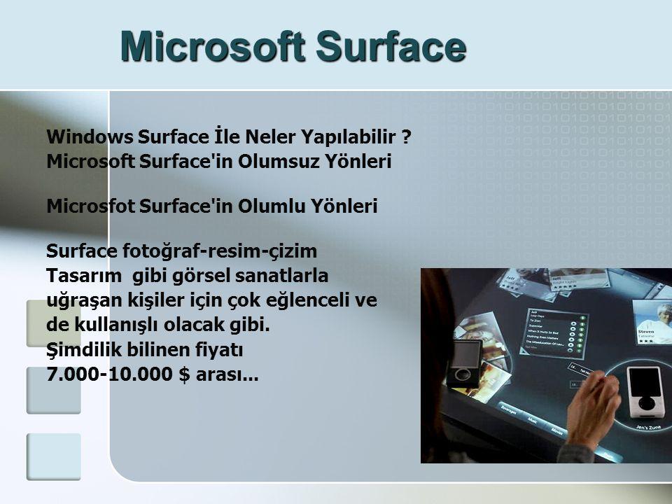 Microsoft Surface Windows Surface İle Neler Yapılabilir