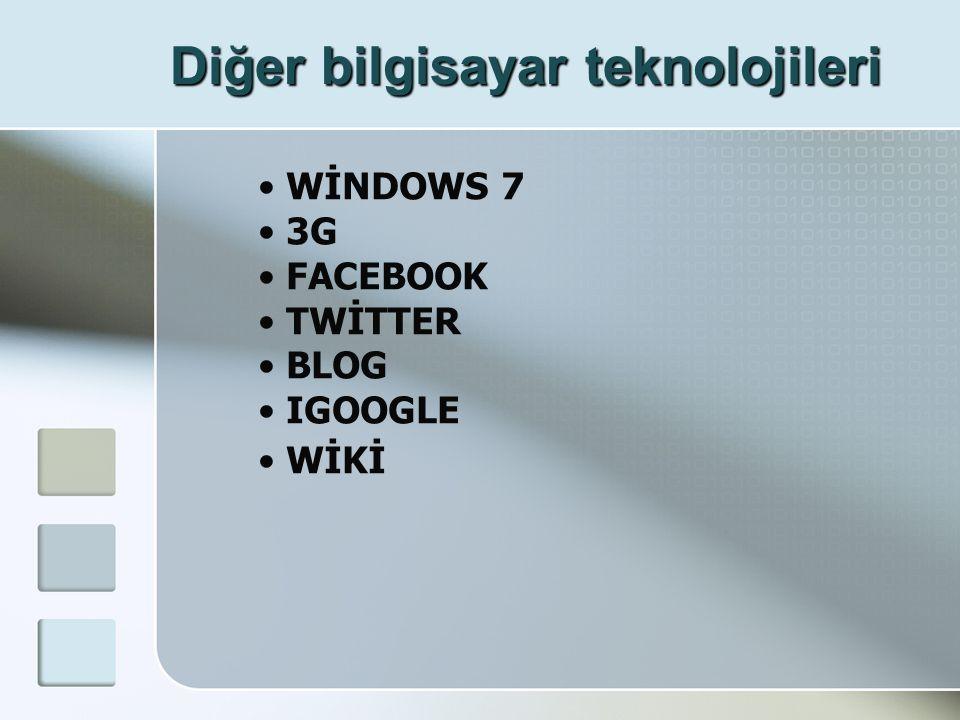 Diğer bilgisayar teknolojileri