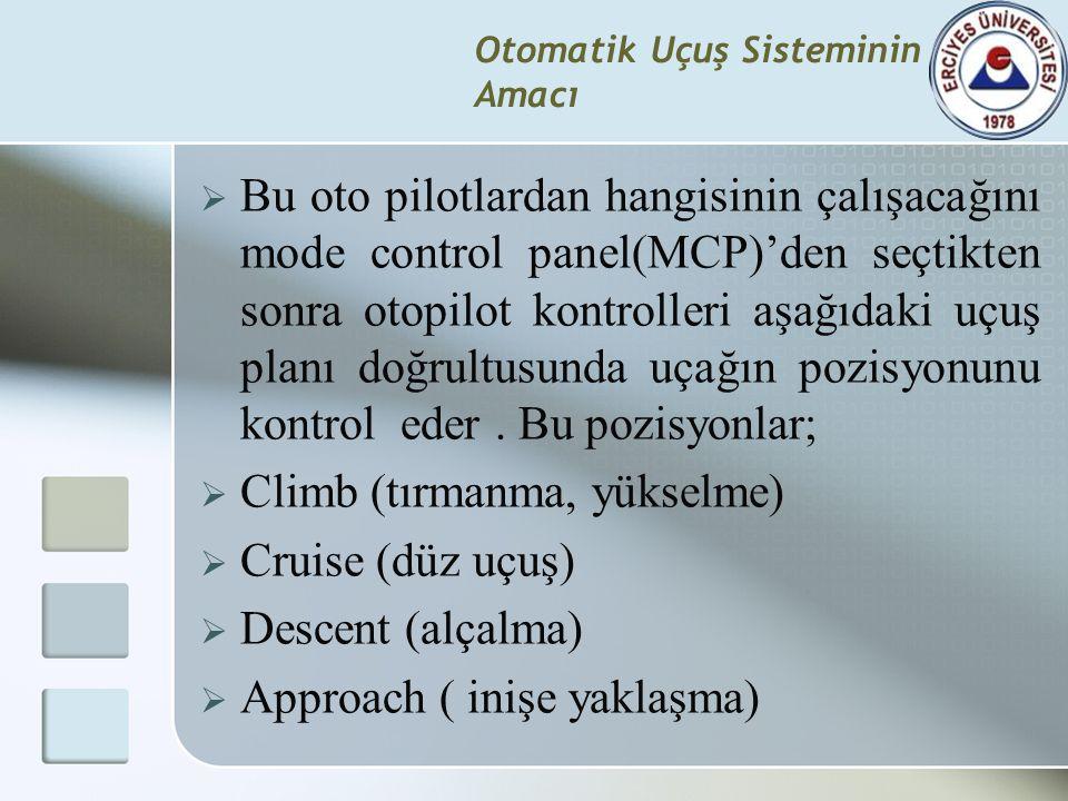 Otomatik Uçuş Sisteminin Amacı