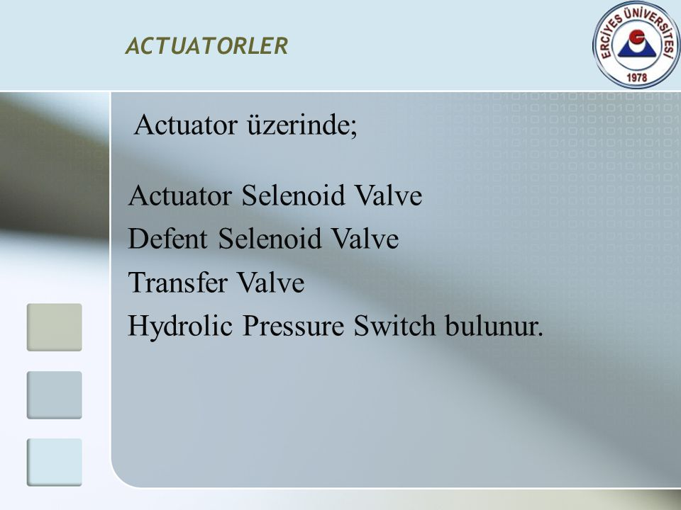 Actuator Selenoid Valve Defent Selenoid Valve Transfer Valve