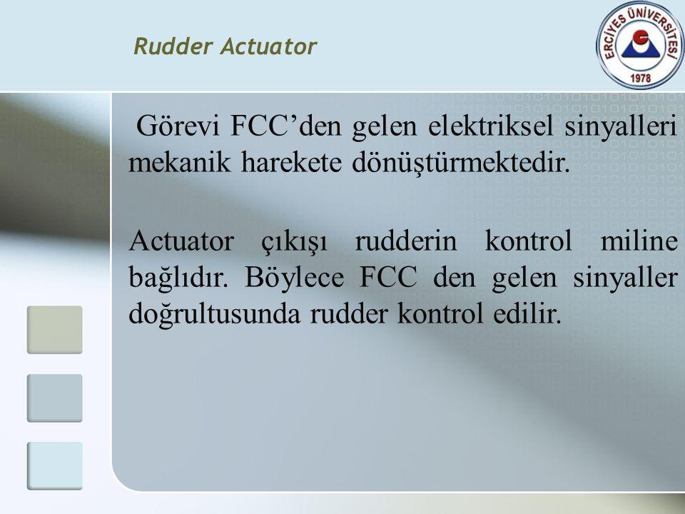 Rudder Actuator Görevi FCC'den gelen elektriksel sinyalleri mekanik harekete dönüştürmektedir.