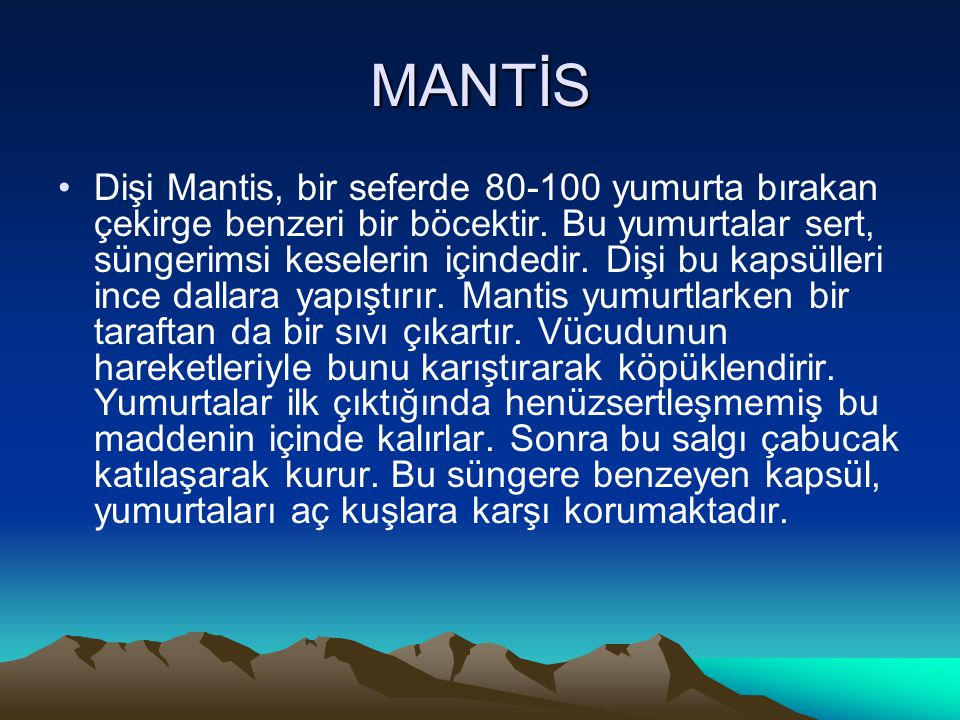 MANTİS