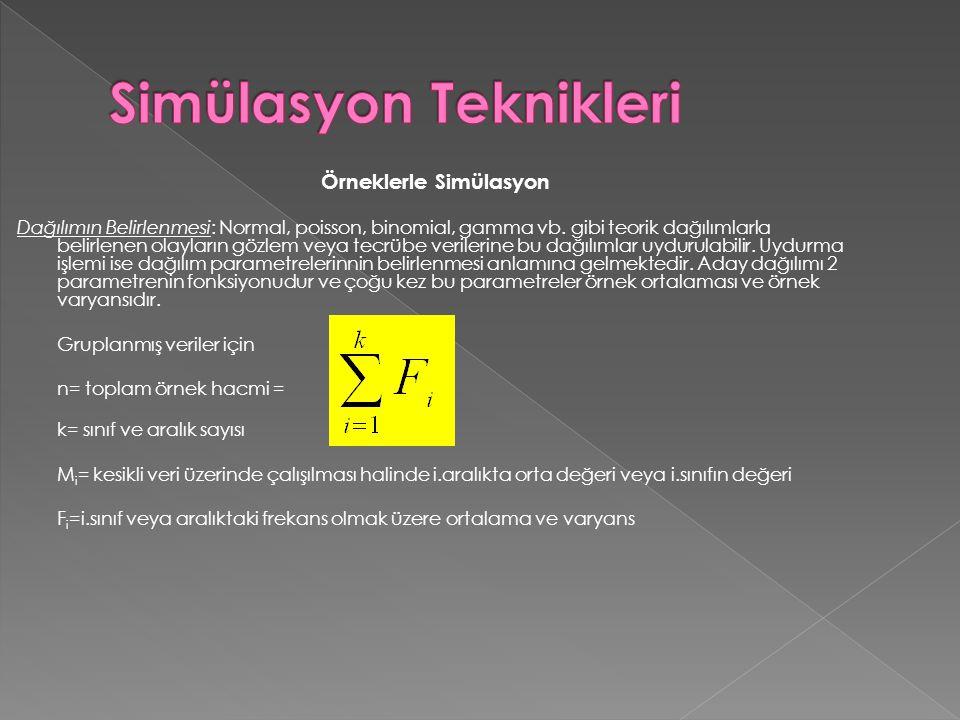 Simülasyon Teknikleri