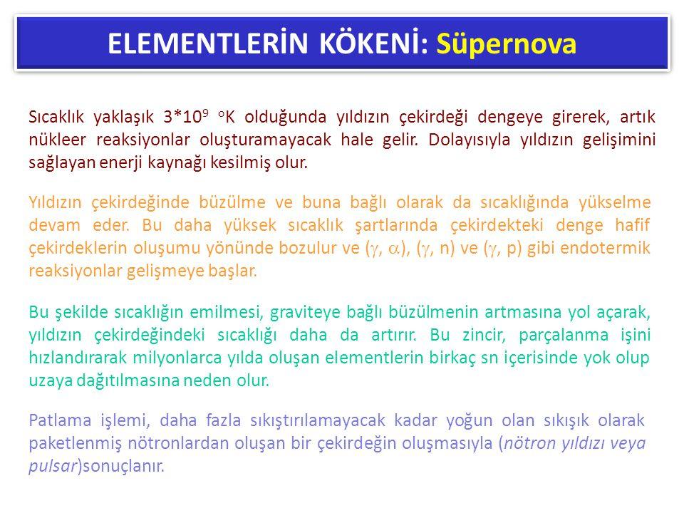 ELEMENTLERİN KÖKENİ: Süpernova