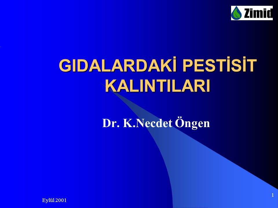 GIDALARDAKİ PESTİSİT KALINTILARI