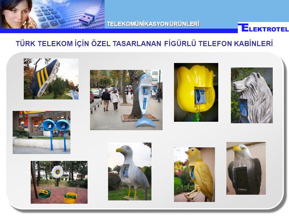 TÜRK TELEKOM İÇİN ÖZEL TASARLANAN FİGÜRLÜ TELEFON KABİNLERİ