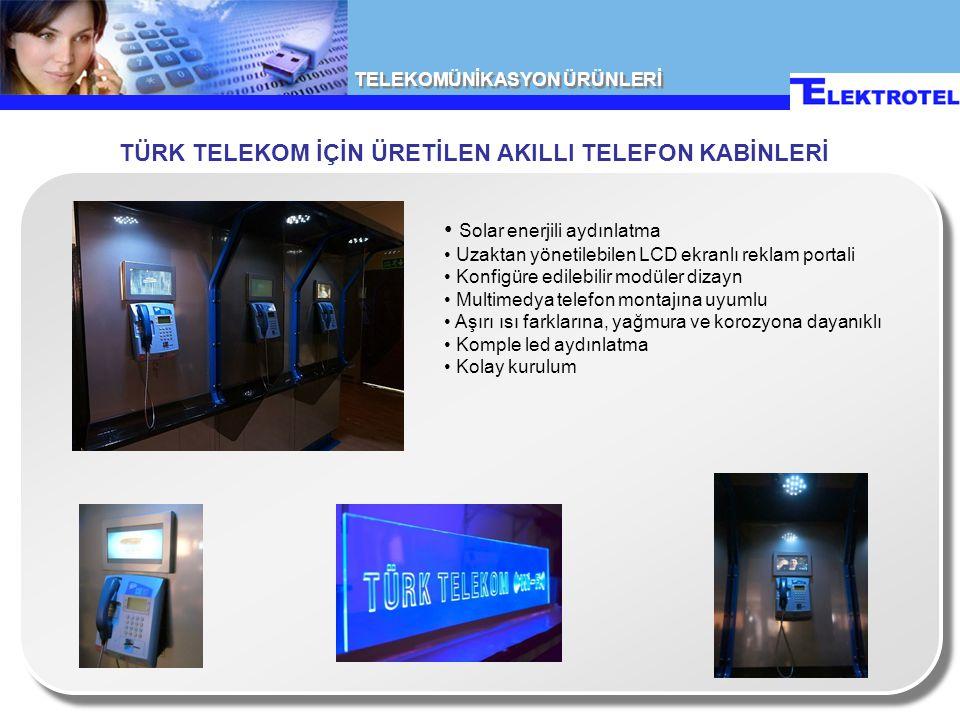 TÜRK TELEKOM İÇİN ÜRETİLEN AKILLI TELEFON KABİNLERİ
