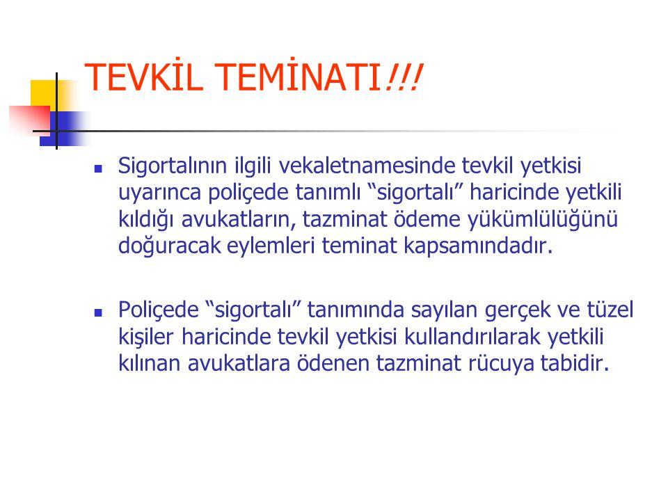 TEVKİL TEMİNATI!!!
