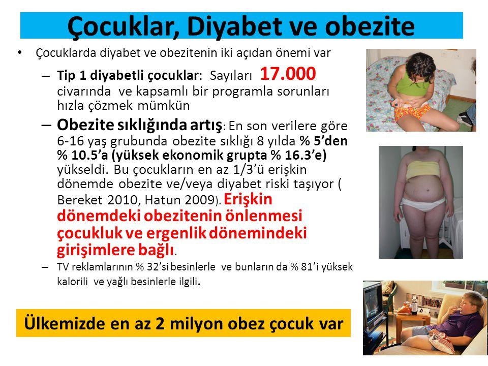 Çocuklar, Diyabet ve obezite