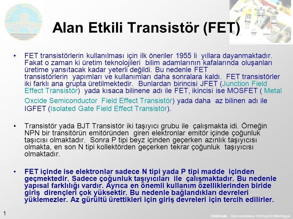 Alan Etkili Transistör (FET)