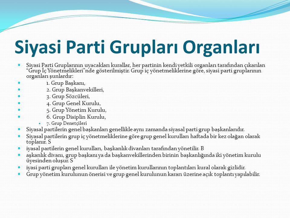 Siyasi Parti Grupları Organları