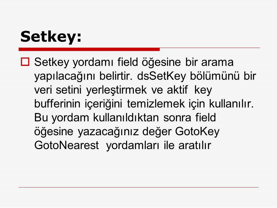 Setkey: