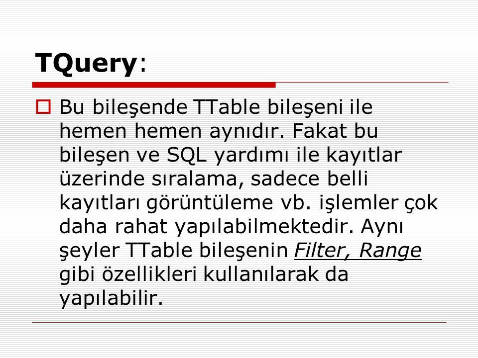 TQuery: