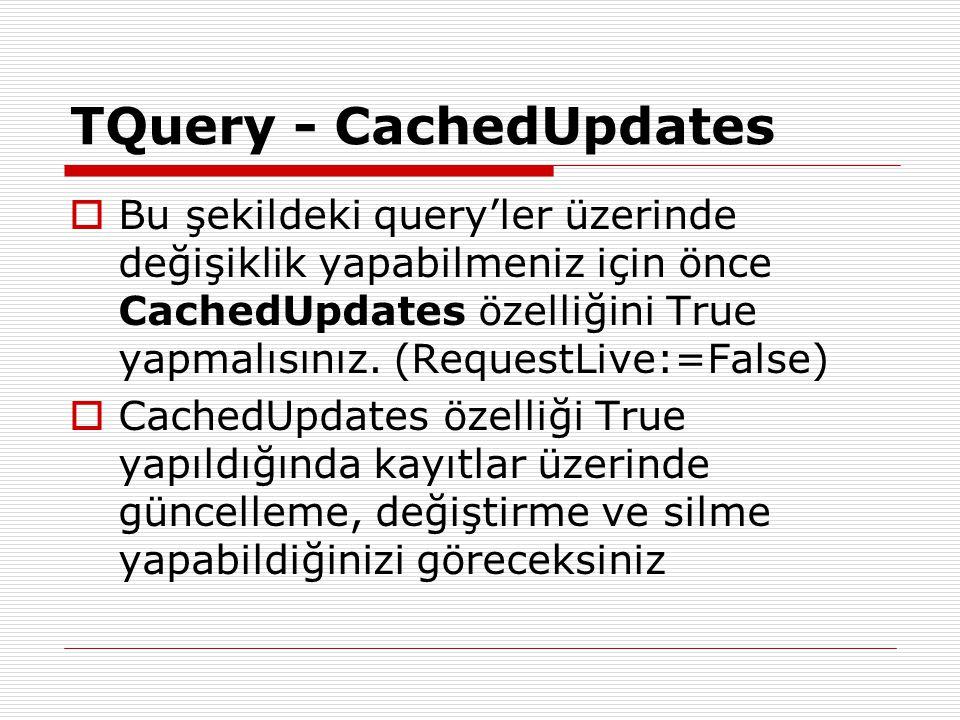 TQuery - CachedUpdates