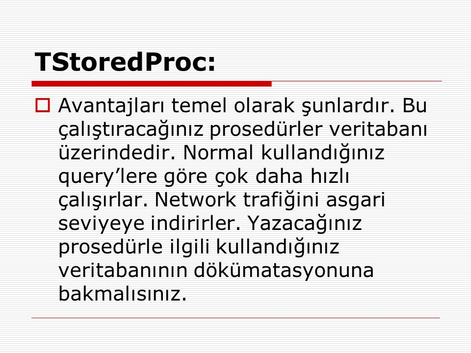 TStoredProc: