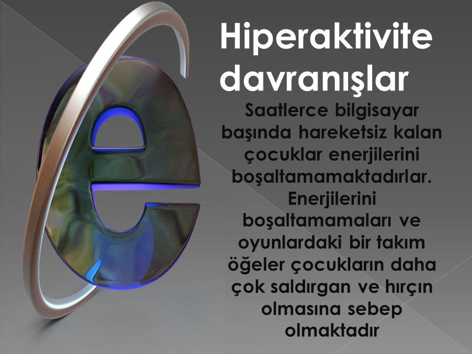 Hiperaktivite davranışlar