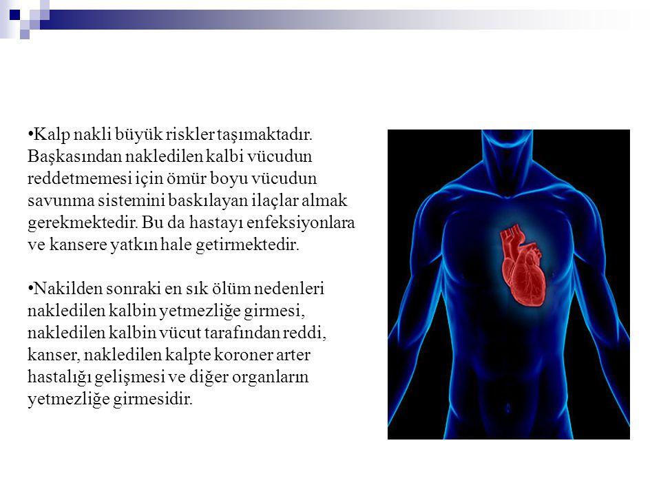 Kalp nakli büyük riskler taşımaktadır