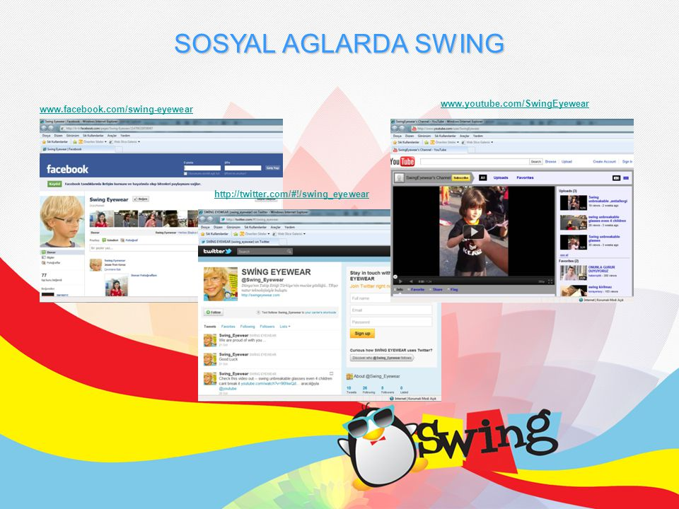 SOSYAL AGLARDA SWING www.youtube.com/SwingEyewear