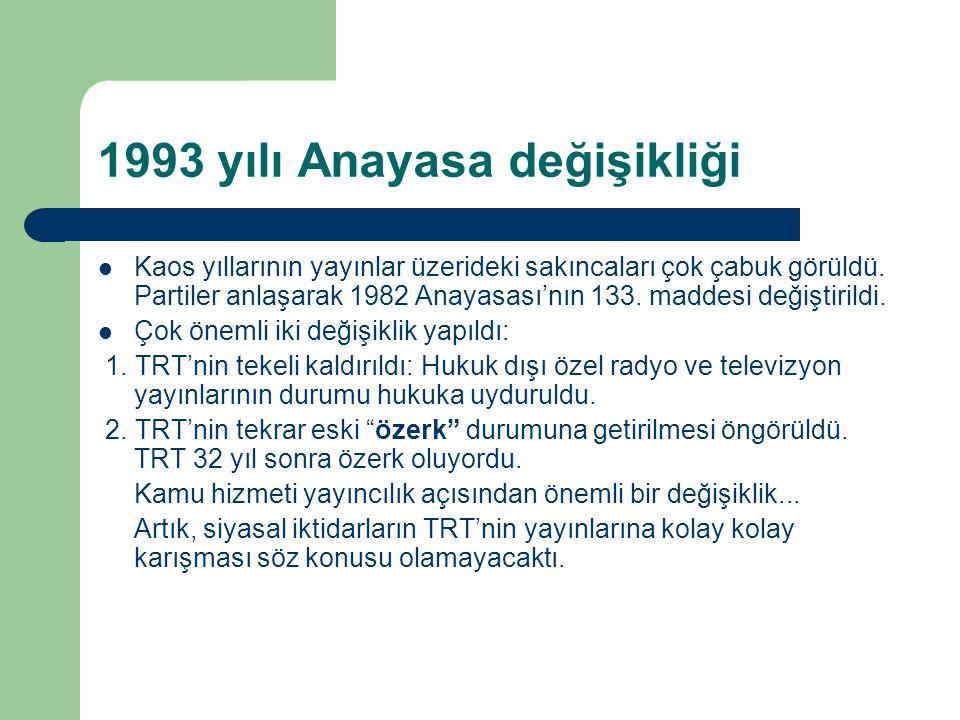 1993 yılı Anayasa değişikliği