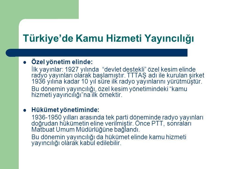 Türkiye'de Kamu Hizmeti Yayıncılığı