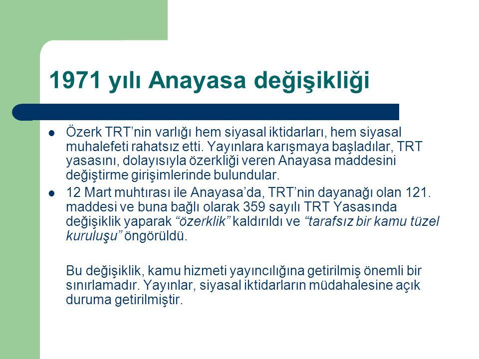 1971 yılı Anayasa değişikliği