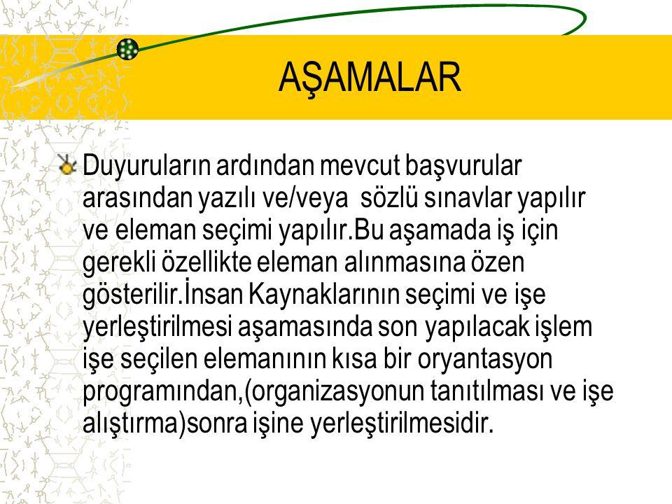 AŞAMALAR