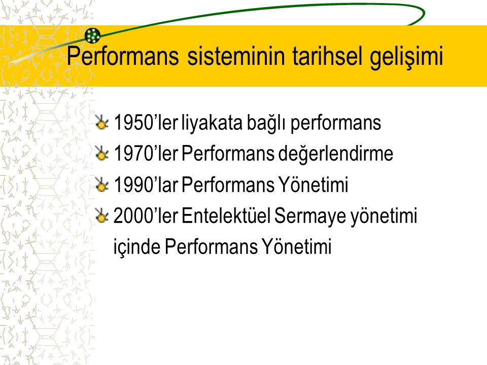 Performans sisteminin tarihsel gelişimi