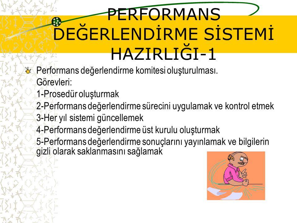 PERFORMANS DEĞERLENDİRME SİSTEMİ HAZIRLIĞI-1