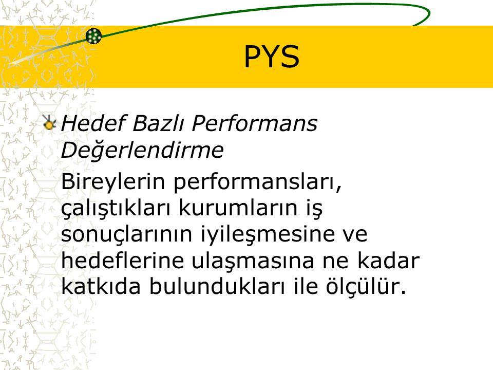 PYS Hedef Bazlı Performans Değerlendirme