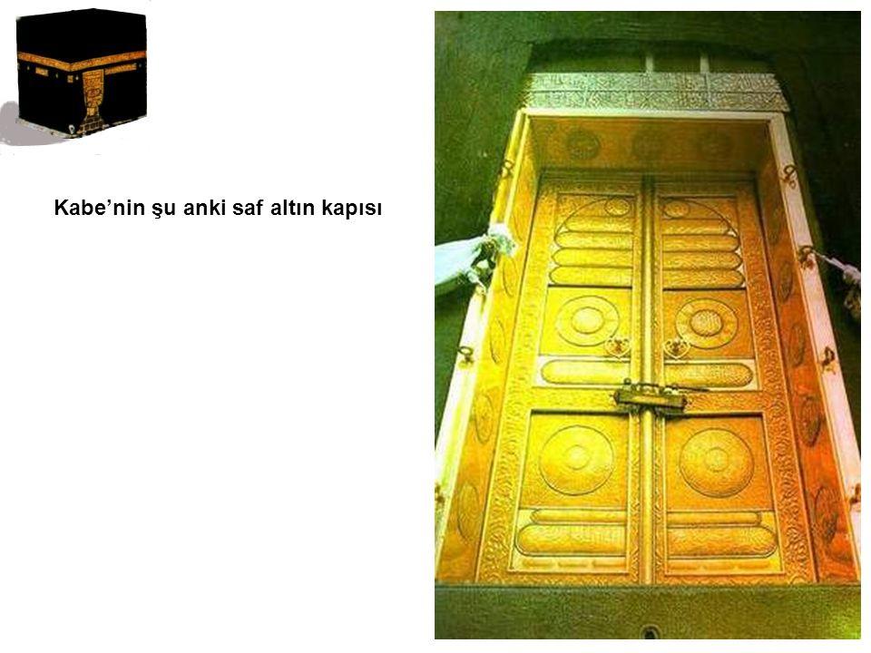 Kabe'nin şu anki saf altın kapısı