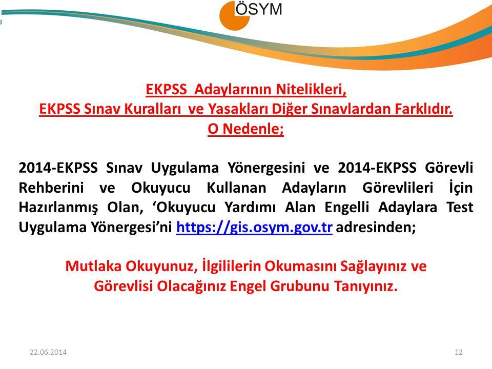 EKPSS Adaylarının Nitelikleri,