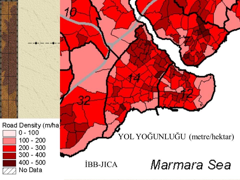 YOL YOĞUNLUĞU (metre/hektar)