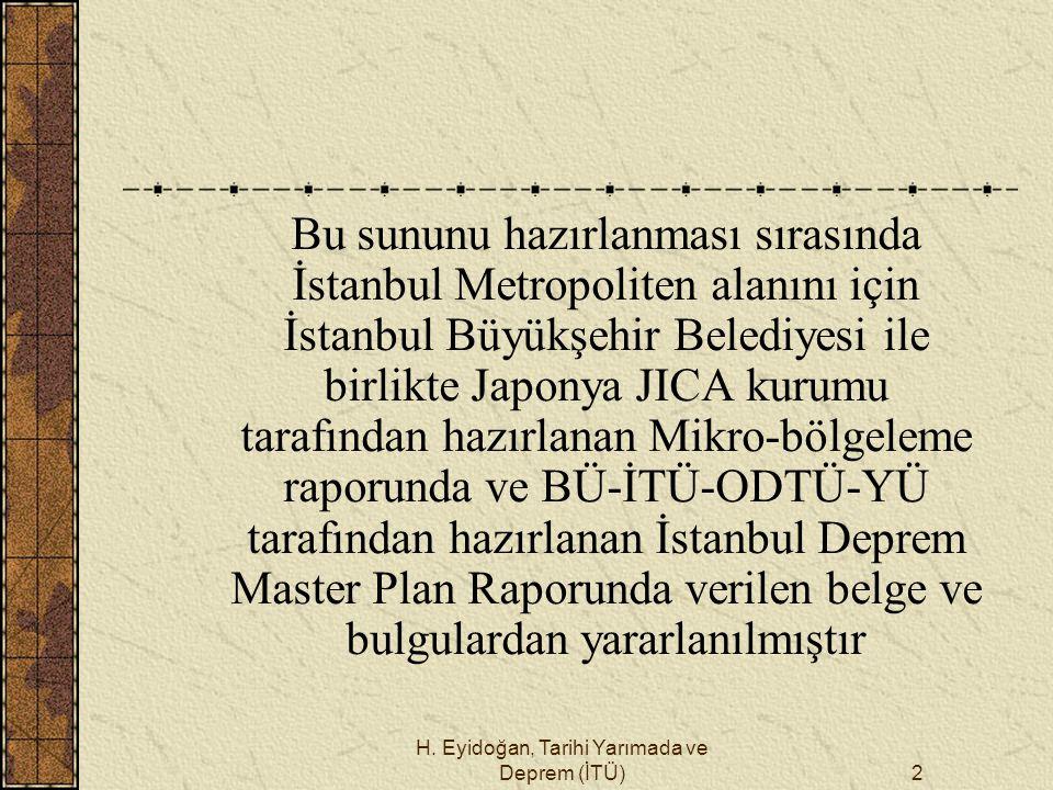 H. Eyidoğan, Tarihi Yarımada ve Deprem (İTÜ)