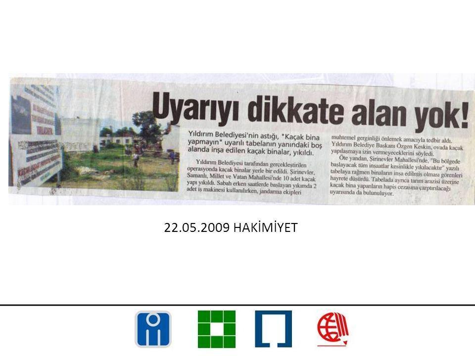22.05.2009 HAKİMİYET