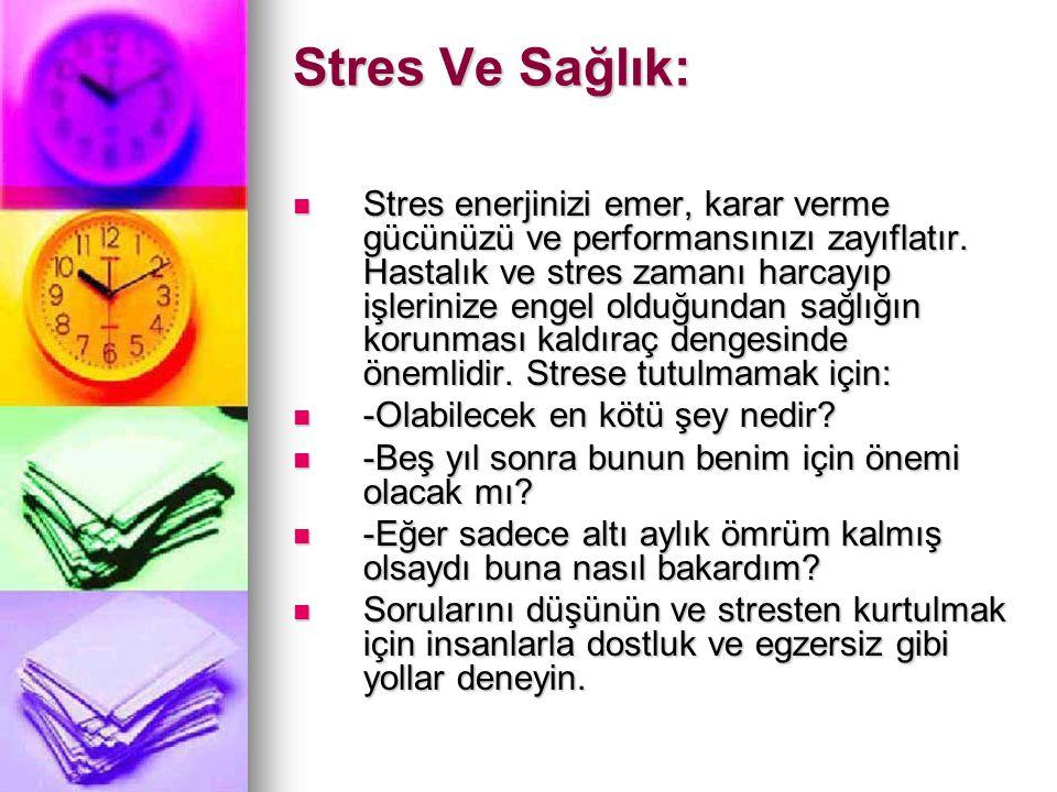 Stres Ve Sağlık: