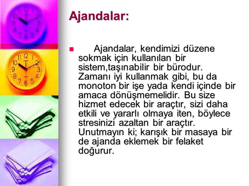 Ajandalar: