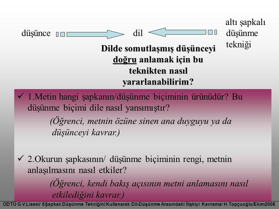 düşünce dil düşünme tekniği