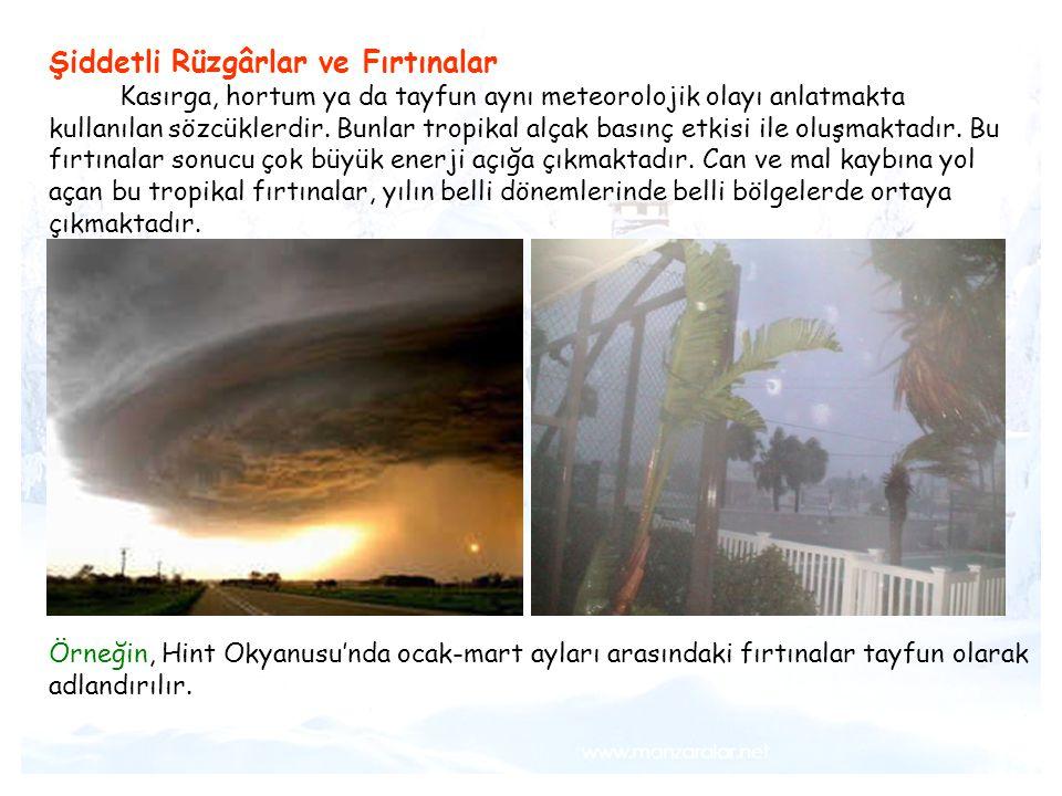 Şiddetli Rüzgârlar ve Fırtınalar