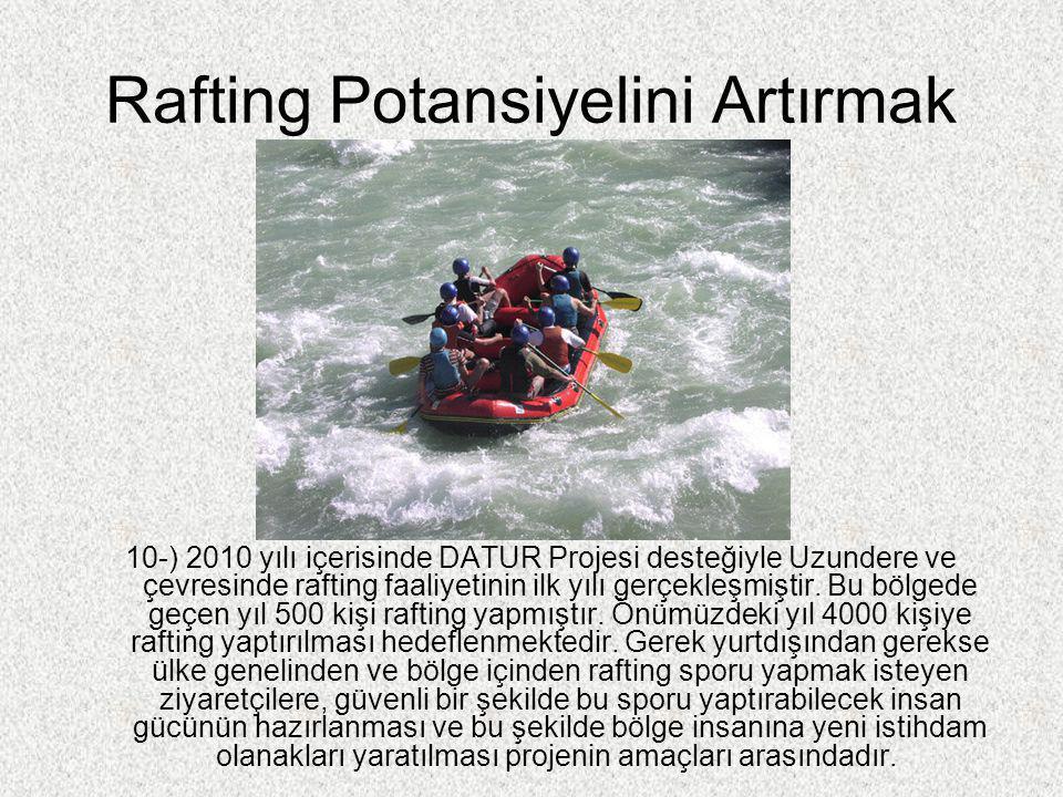 Rafting Potansiyelini Artırmak