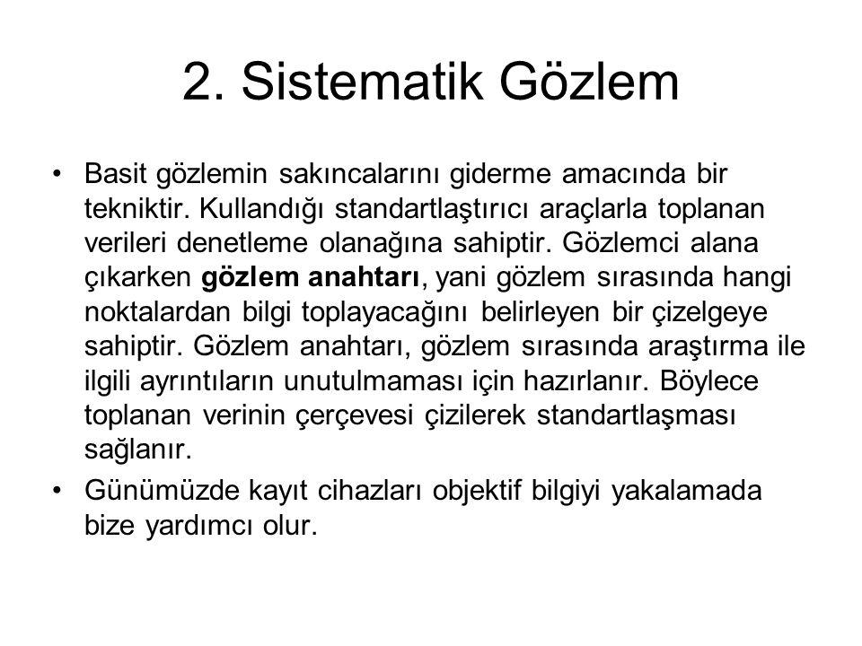 2. Sistematik Gözlem